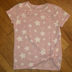 Poof Girl ❤️ shirt with white stars youth large